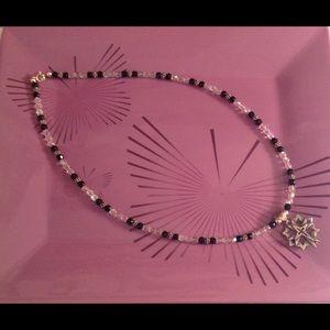 Jewelry - Handmade Beaded Necklace with Cross